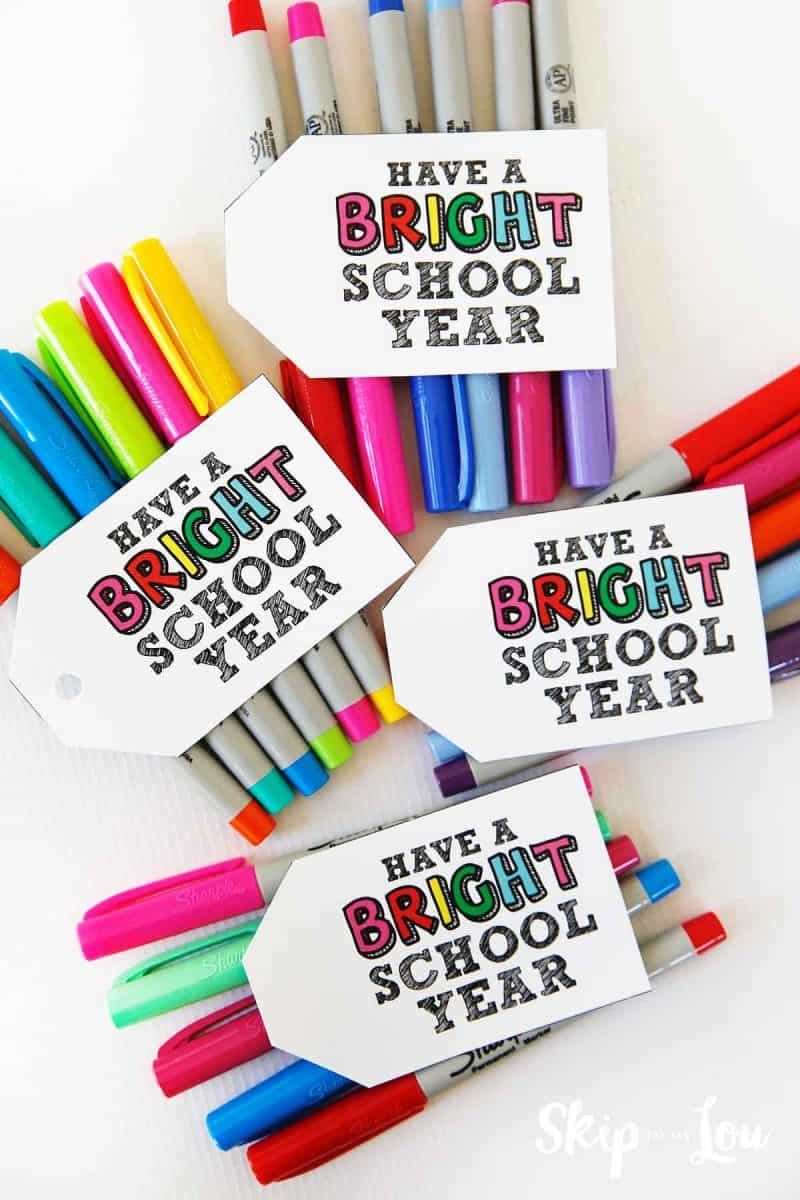 Have a bright school year gift tag