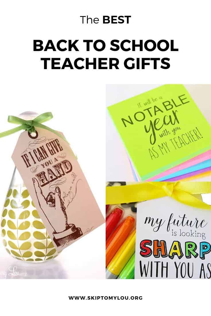 back to school teacher gifts pinterest graphic