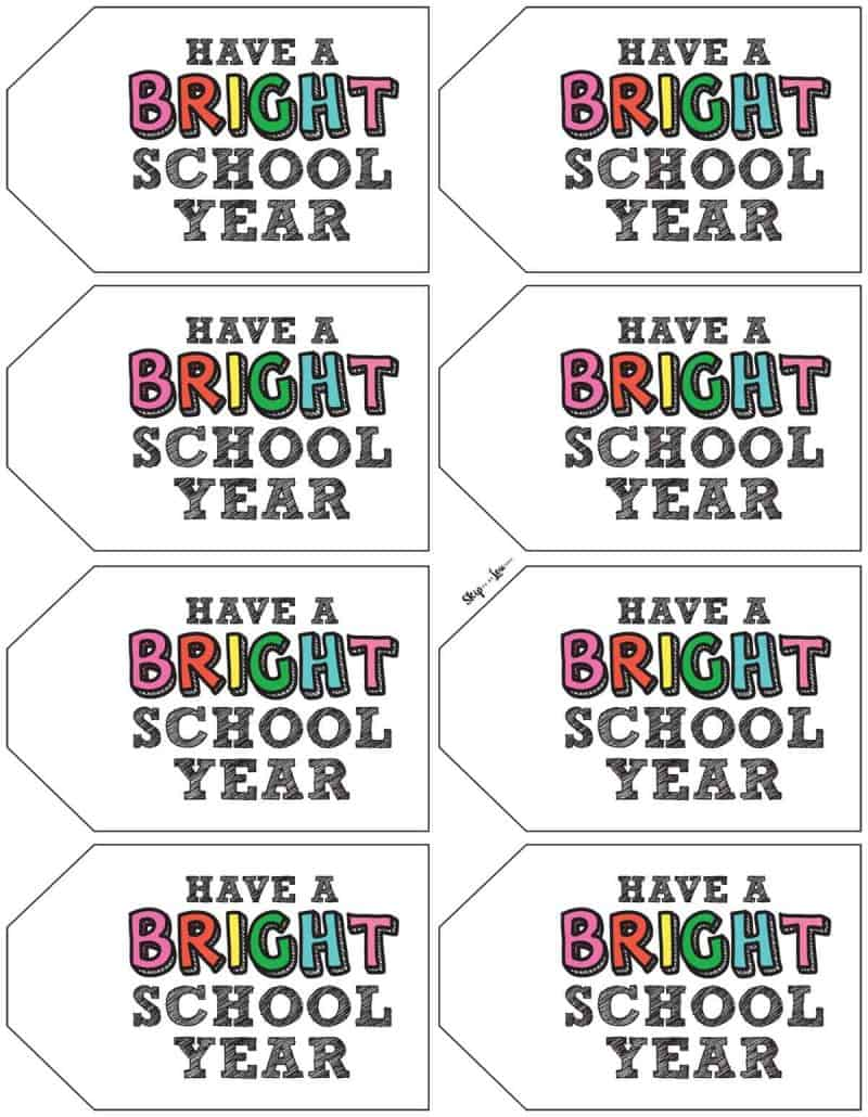 colored have a bright school year tags