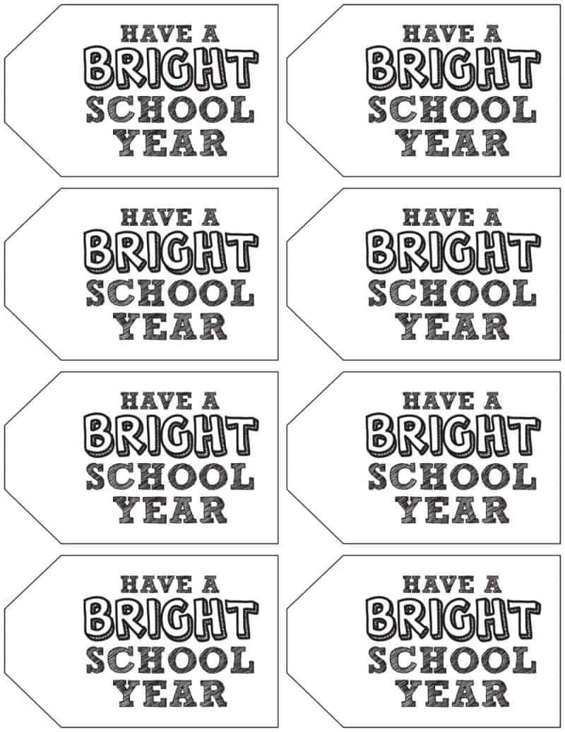 black and white have a bright school year tags