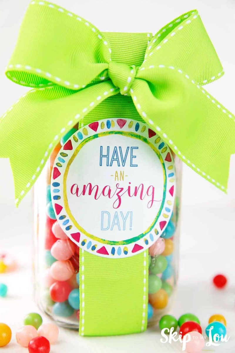 have an amazing day gift in a jar