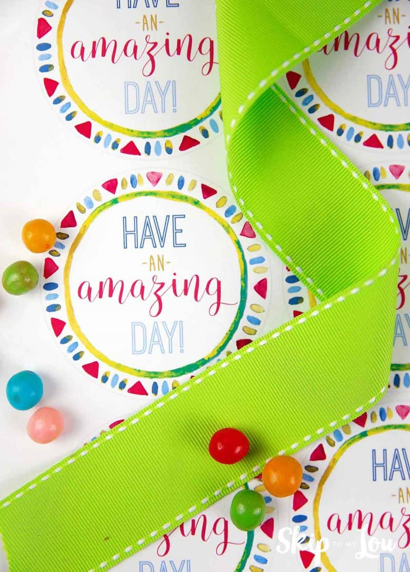 have an amazing day labels