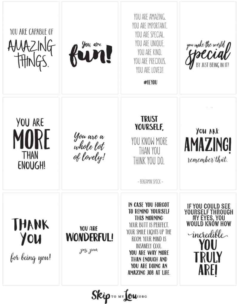 graphic relating to Affirmation Cards Printable identified as Absolutely sure affirmations PRINT and percentage with pals Miss