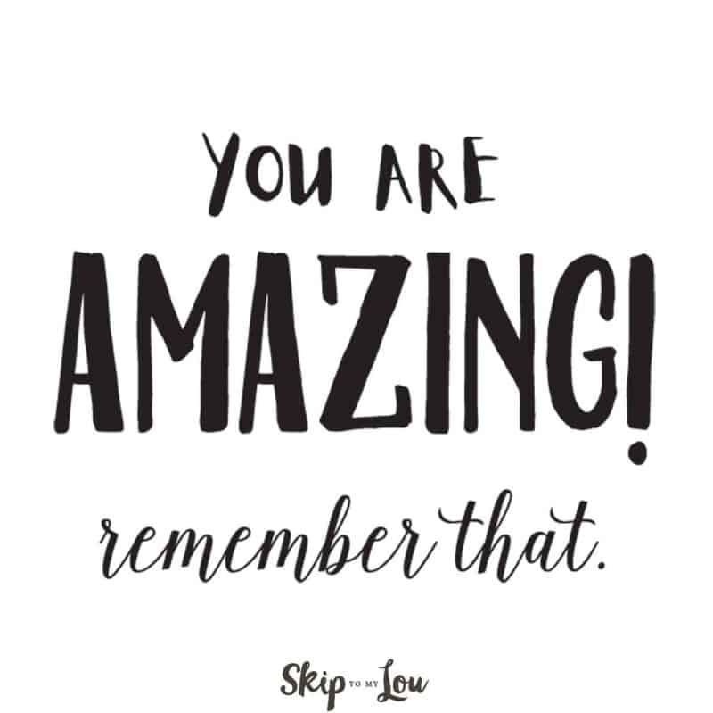 you are amazing affirmation