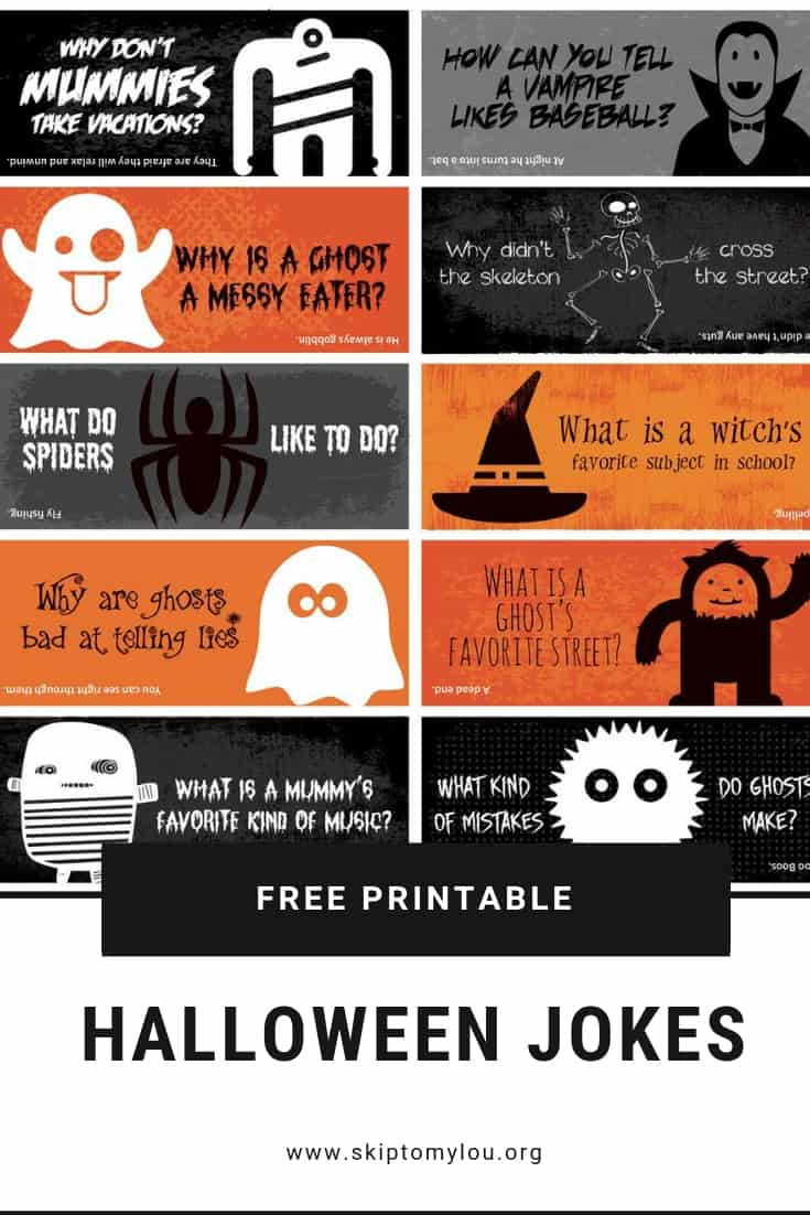 Make the whole month of October fun with these Halloween Lunch Box Jokes. Halloween jokes for kids are silly and sure to get a giggle from your child. #halloween #printables