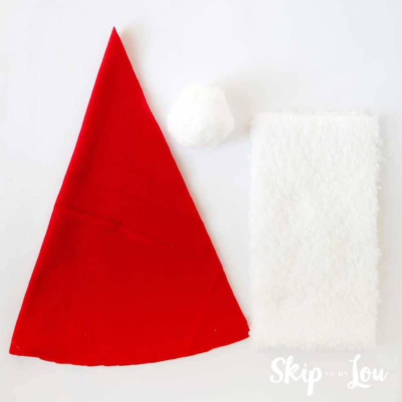 santa hat cutting instructions