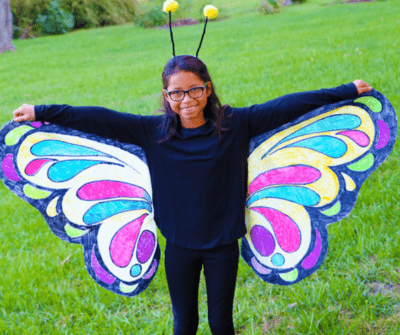 no sew butterfly costume