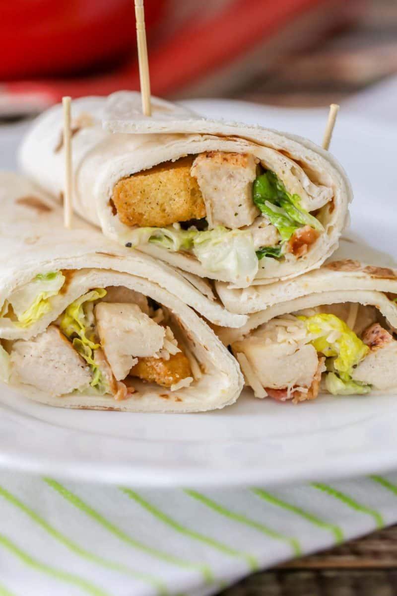 caesar salad wrap recipe