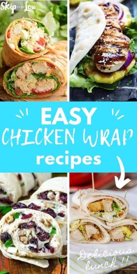easy chicken wrap recipes PIN
