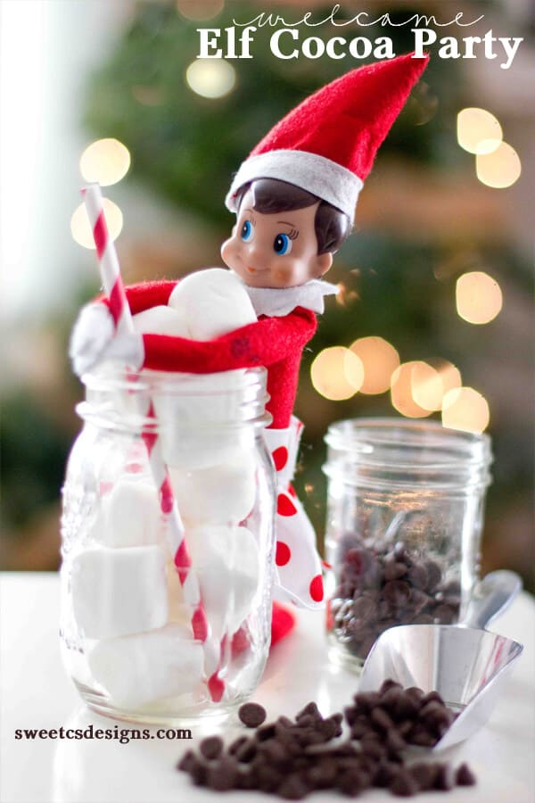 elf hot chocolate party