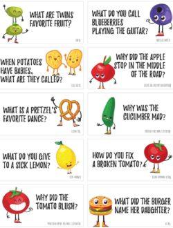 printable food jokes