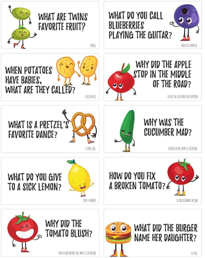 photograph about Printable Jokes called Amusing Foods Jokes in direction of print and proportion! Miss Towards My Lou