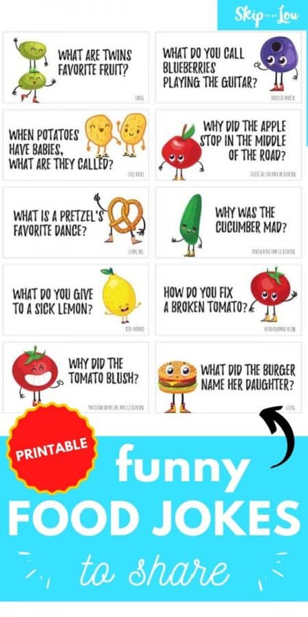 funny food jokes printable PIN