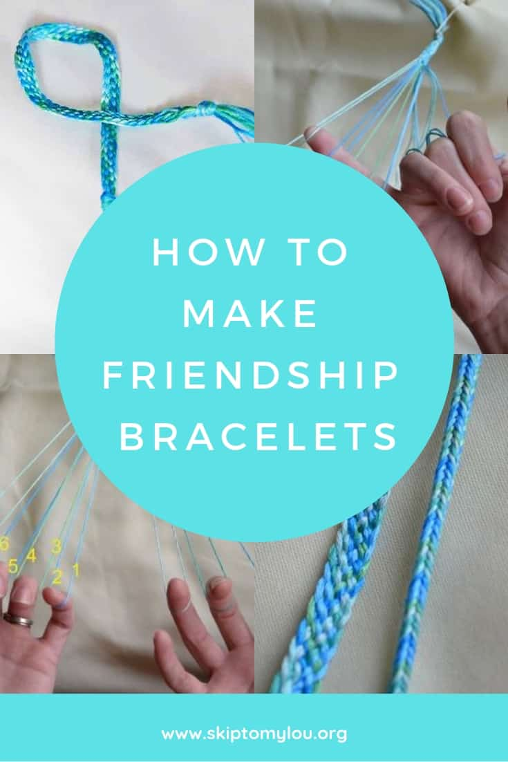 how to make friendship bracelets Pinterest Graphic