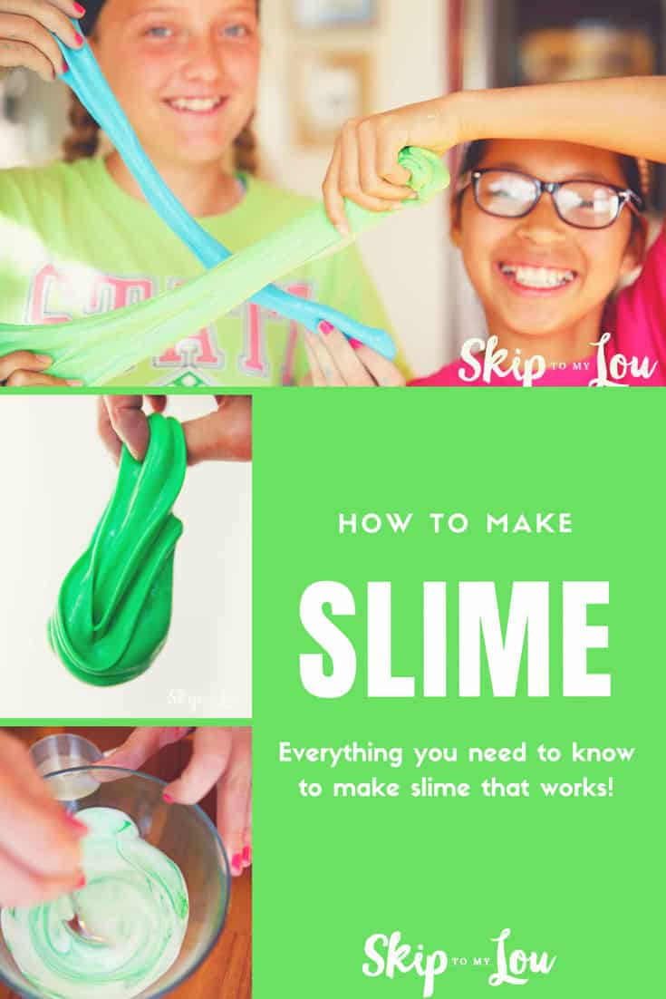 Are your children enthralled with how to make slime? You know that goo that you can't keep your hands out of. Join the craze and learn how with this recipe. Our fluffyslimerecipe is easy and fun tomake! No borax and made with contact solution and shaving cream.Time to play with slime! #slime #kidsactivities