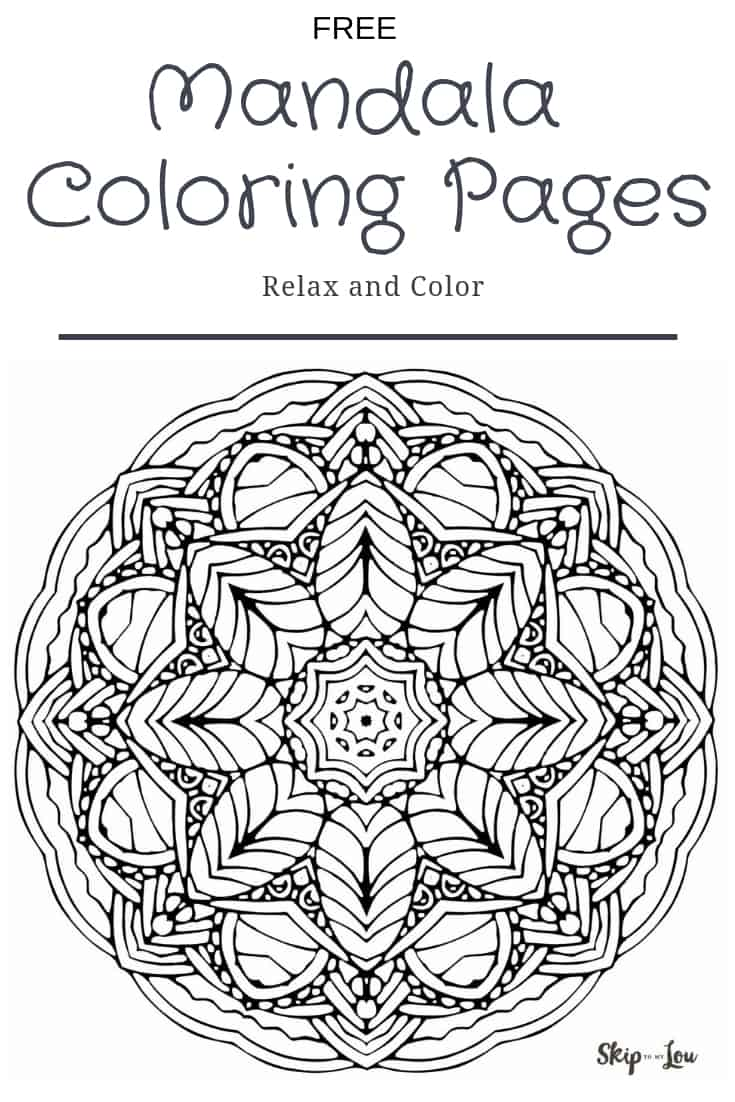 beautiful free mandala coloring pages skip to my lou. Black Bedroom Furniture Sets. Home Design Ideas