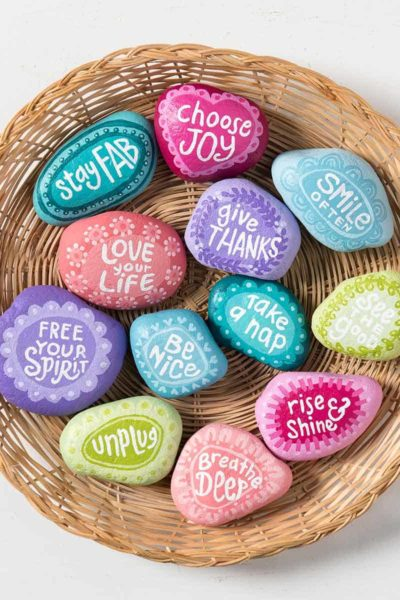 painted rocks with sayings