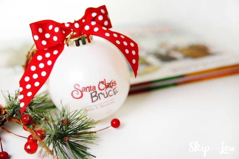 santa bruce ornament