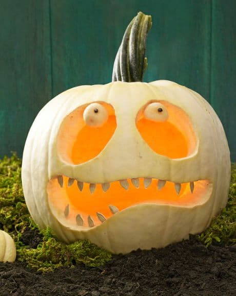 pumpkin with teeth