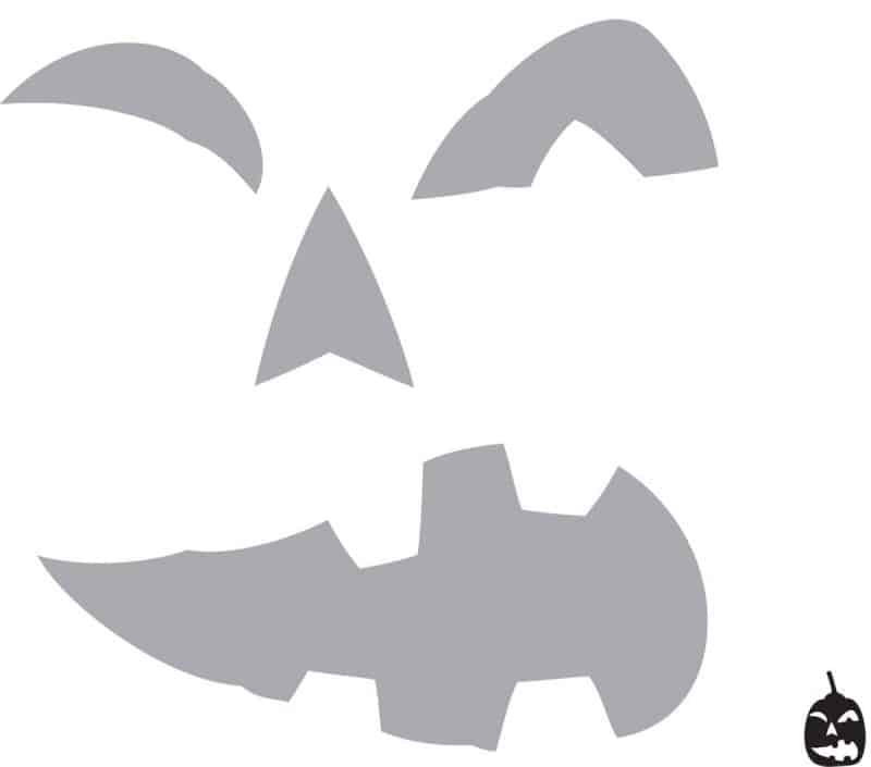 spooky jack o lantern face