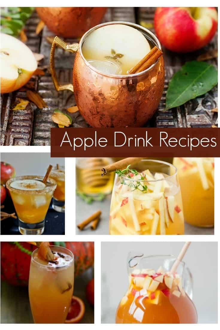 Celebrate Fall with happy hour! These apple drink recipes will not disappoint! There really are a lot of ways to use apples. These are perfect for the adults at your Fall parties. #fall #fallcocktails #appledrinks #applecocktails