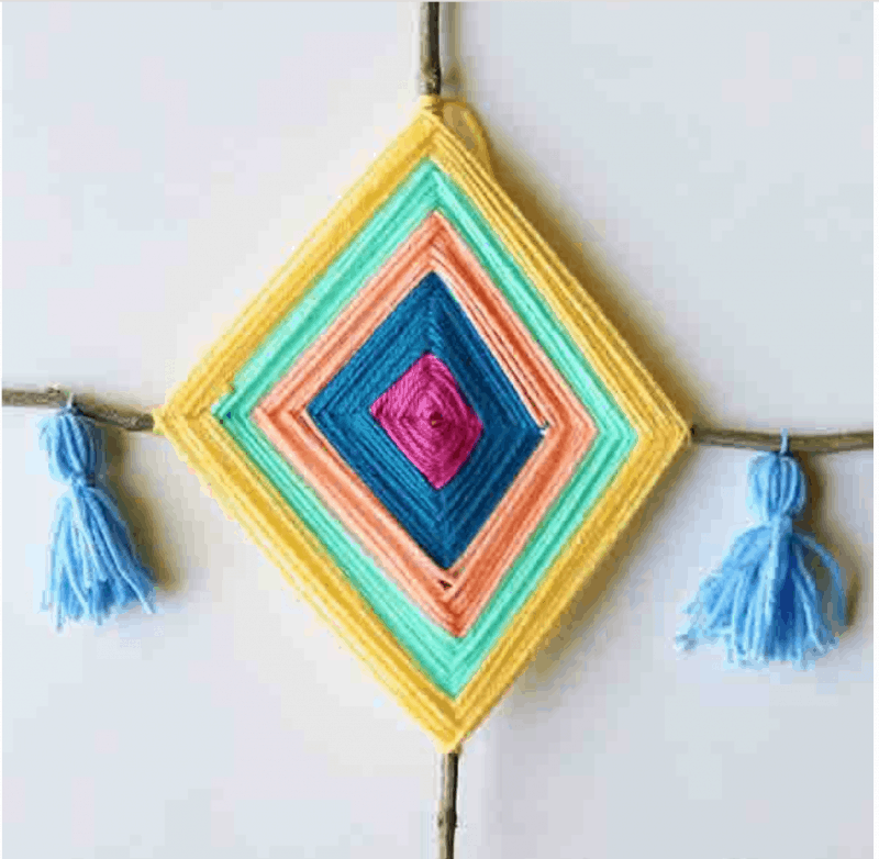 gods eye with tassel