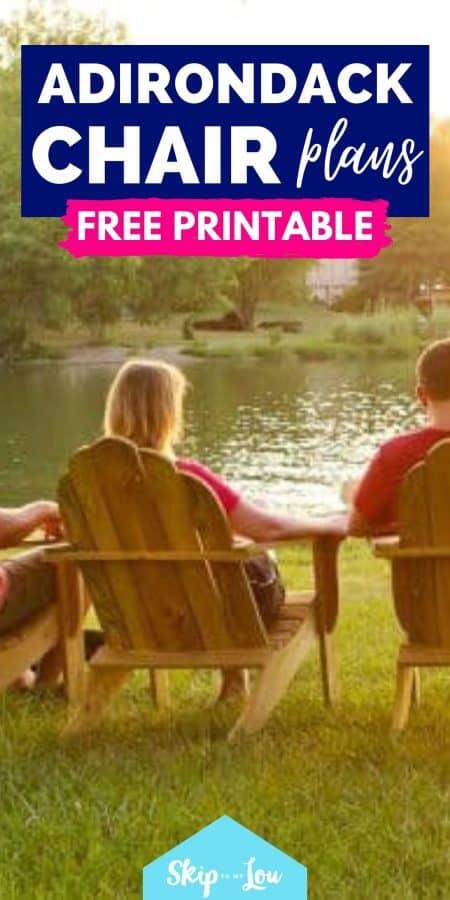 adirondack chair plan free printable PIN