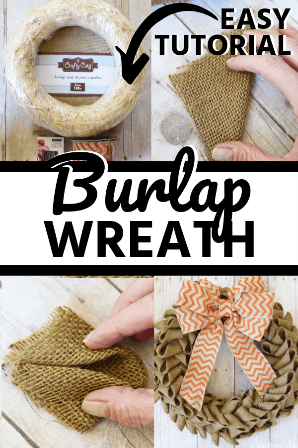 burlap wreath collage