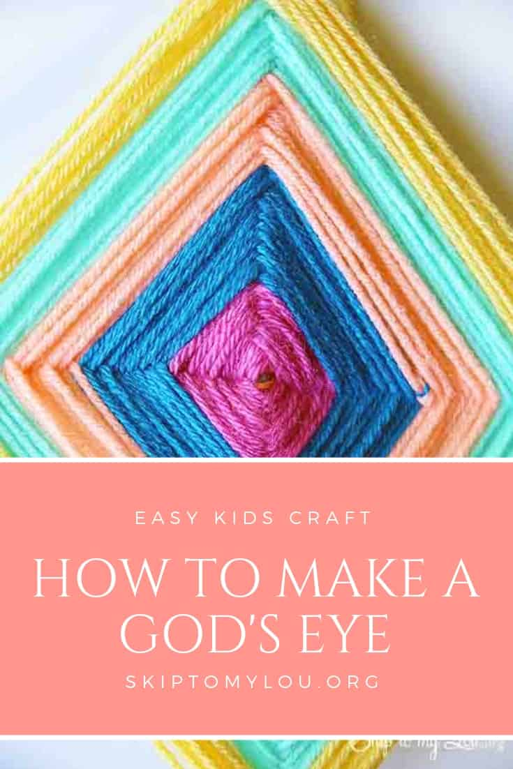 The yarn God's Eye is a longtime favorite kids camp crafts. It is called God's eye for the Eye of God. In Spanish, Ojo de Dios.  It is a weaving usually made with wood and many different colors of yarn. #kidscrafts