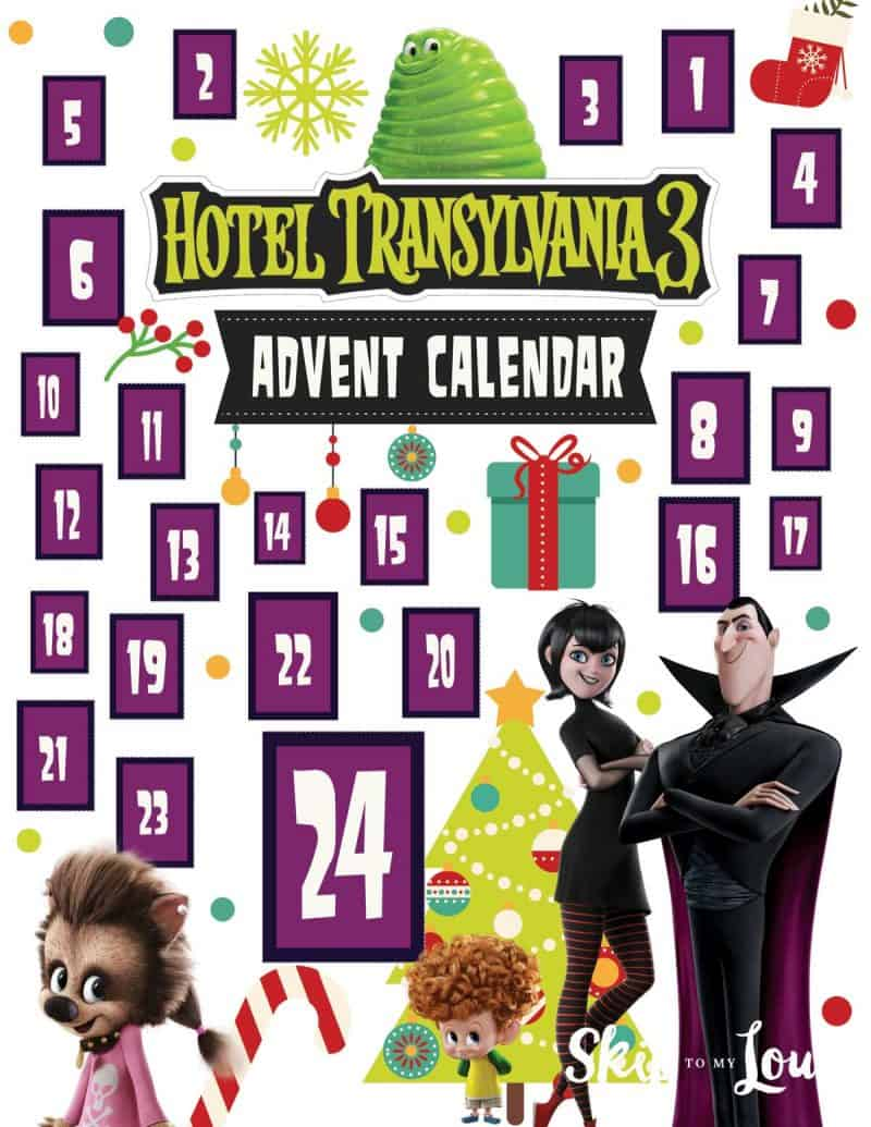 Hotel Transylvania 3 Advent Calendar Printable