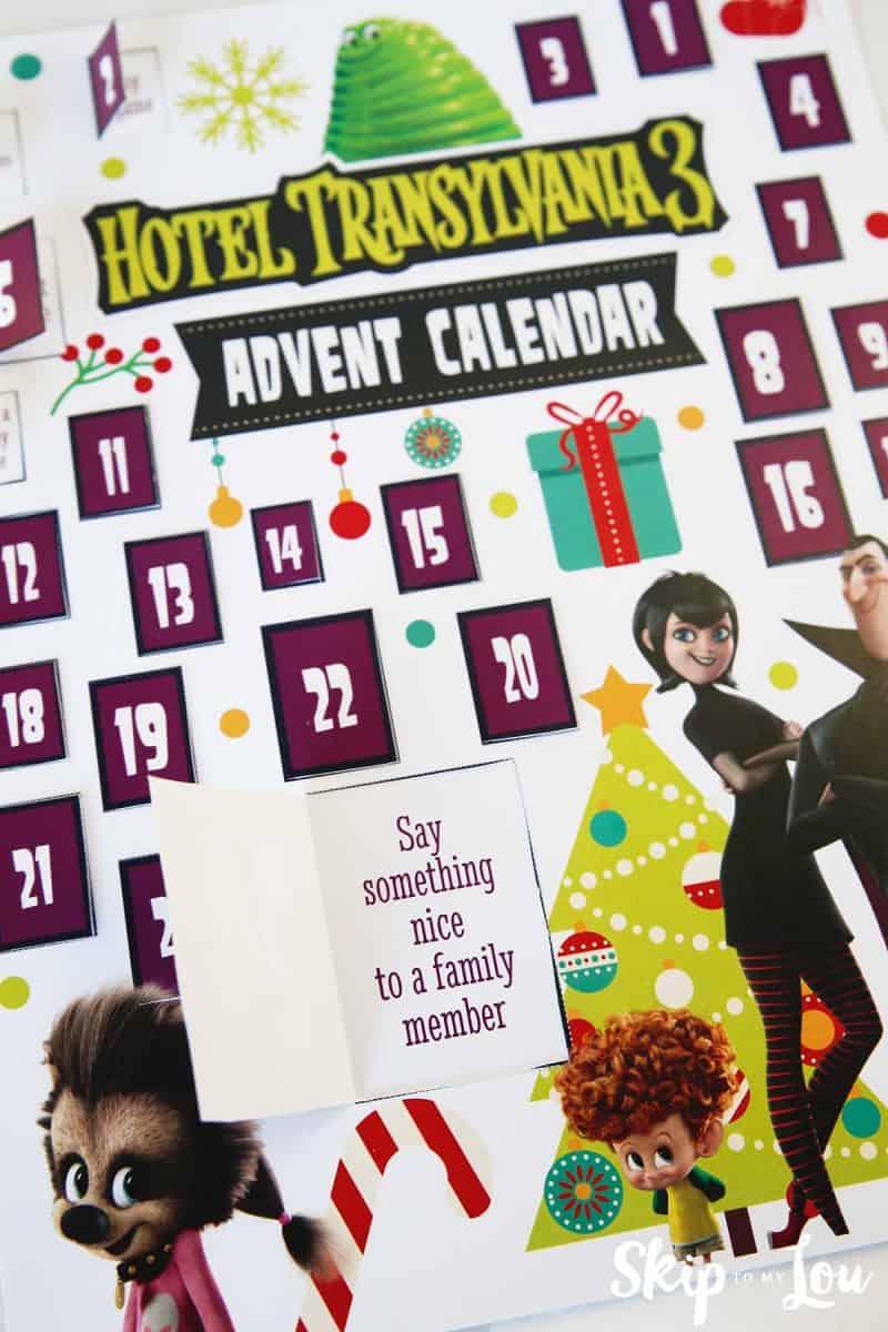 advent calendar say something nice door open