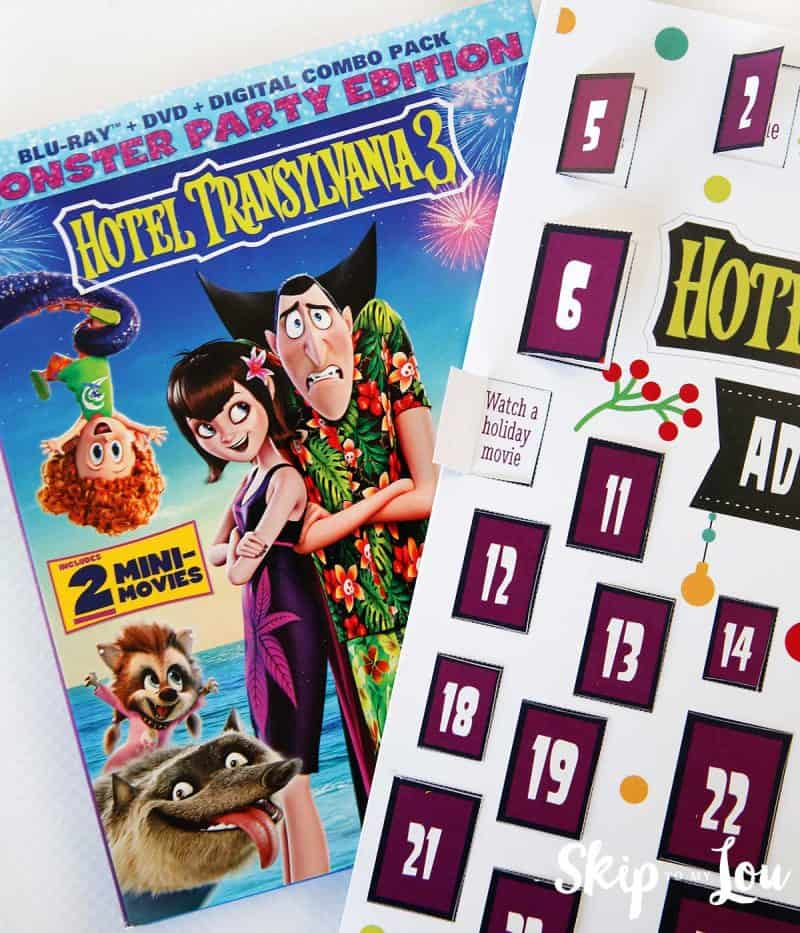 Hotel Transylvania 3 Advent Calendar watch a movie activity door opened