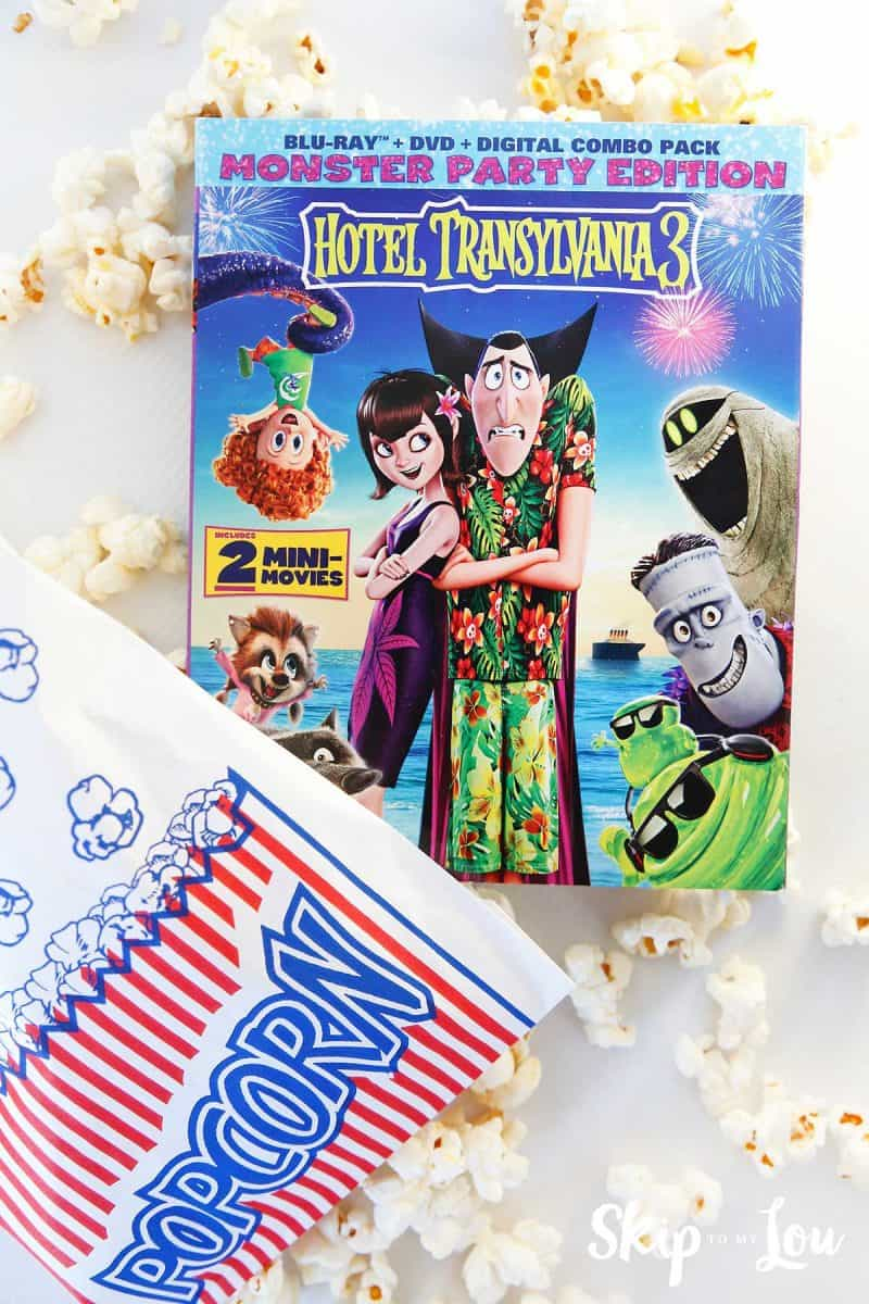 Hotel Transylvania 3 movie with popcorn