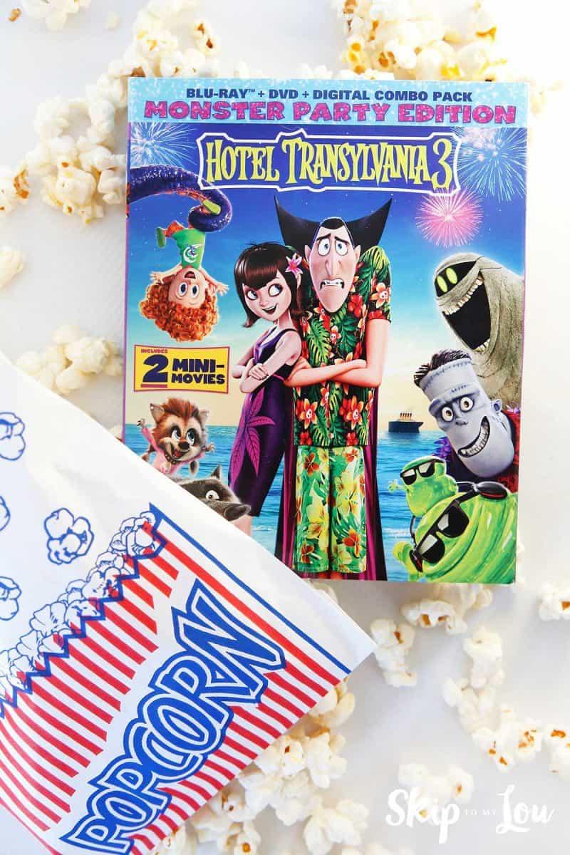 Hotel Transylvania 3 movie with popcorn