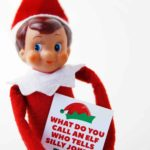 elf on the shelf holding printable joke card