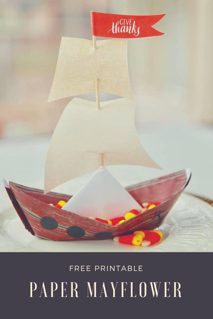 free printable paper mayflower ship
