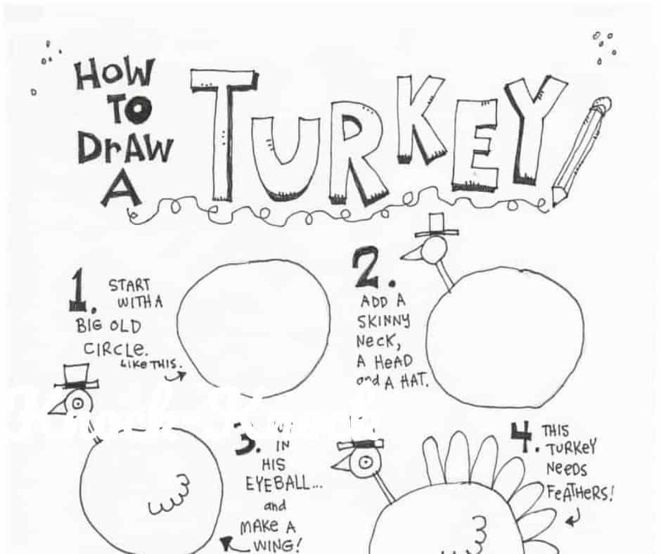 how to draw a turkey worksheet