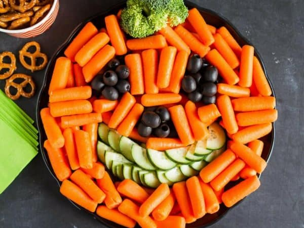 pumpkin vegetable platter