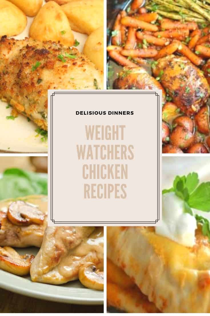 Looking to lose a little weight? These weight watchers chicken recipes will make it so you can still have many of your favorite chicken recipes. #weightwatchers #weightwatchersrecipes #recipes