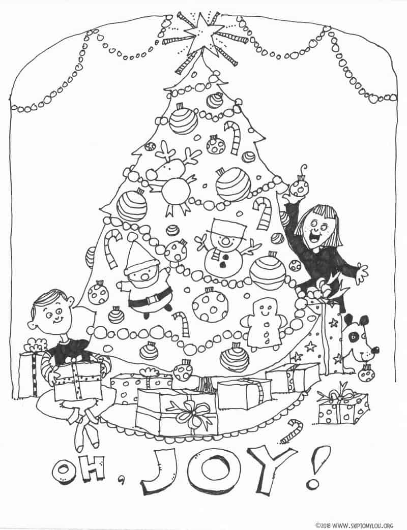 Christmas Tree Coloring Page | Skip To My Lou