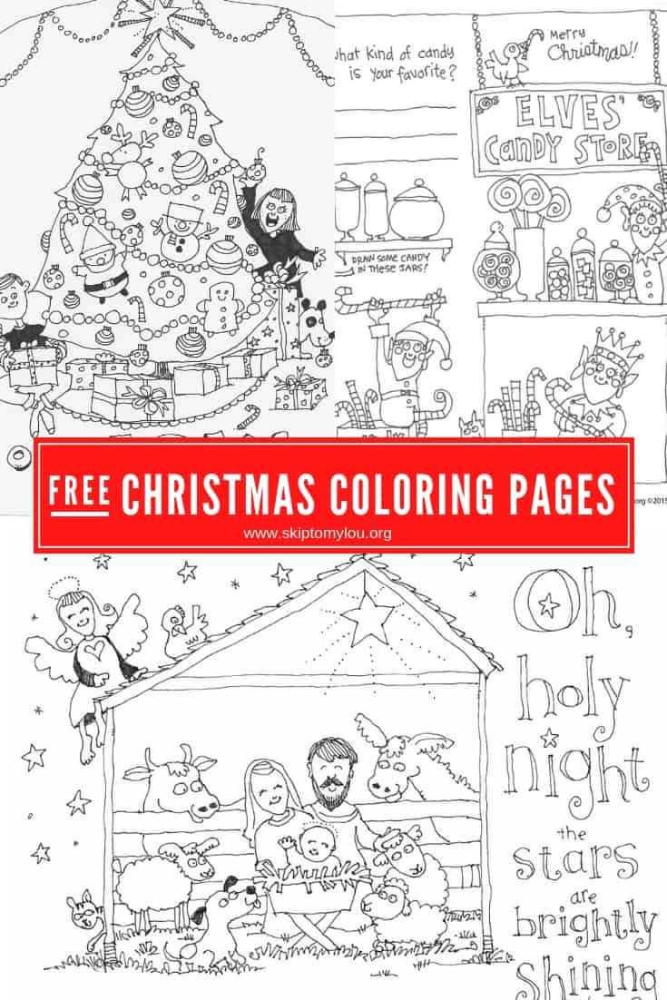 Have fun this holiday with these Christmas coloring pages. Print them all for free! Download the coloring sheets and print on white copy paper. Print as many as you like!  #Christmas #coloringpages