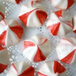 meringue cookies on doily