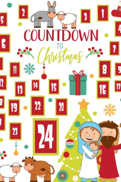 Nativity Advent Calendar printable