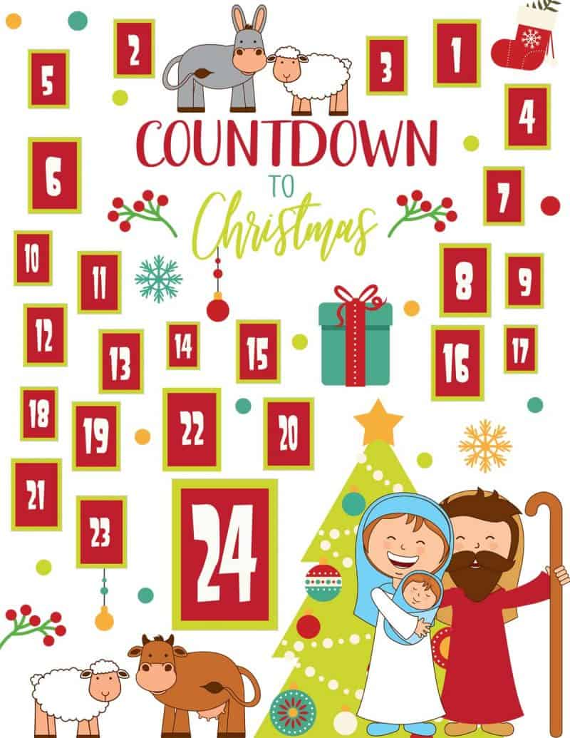 graphic regarding Advent Calendar Printable referred to as Printable Nativity Arrival Calendar Miss out on In the direction of My Lou