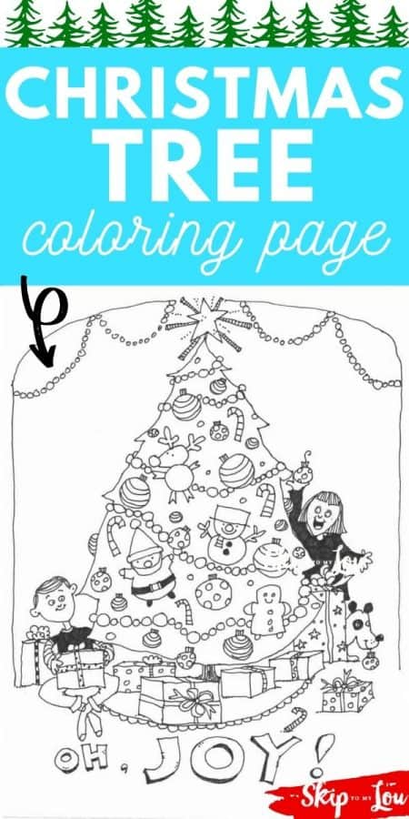 christmas tree coloring page PIN