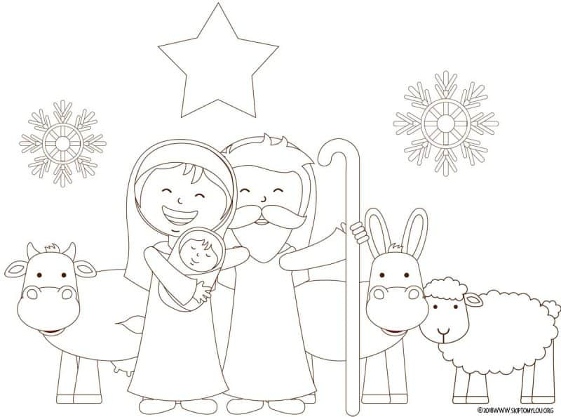 This is a graphic of Persnickety Free Printable Nativity Coloring Pages