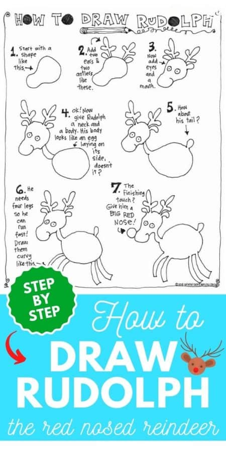 how to draw rudolph PIN