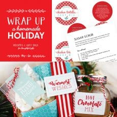 homemade Christmas gifts collage