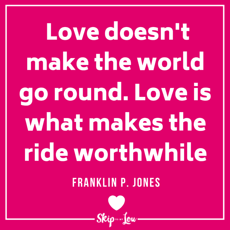love makes world go round red quote