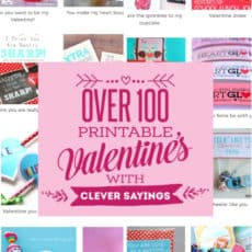 100 printable Valentines Pinterest Graphic